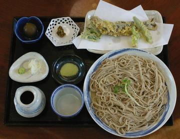 岩魚天ぷらざる蕎麦